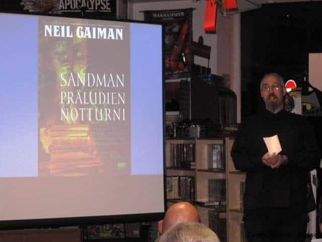 Ein Highlight war Peters vortrag über Neil Gaimans Sandman.